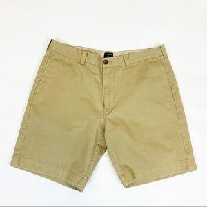 J. Crew Tan Khaki Gramercy Chino Preppy Shorts 35